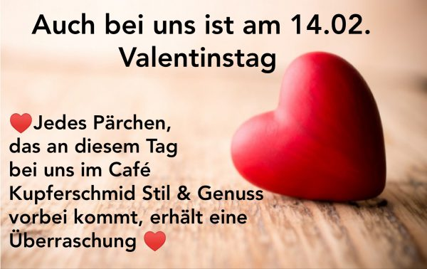 Valentinstag im Cafe