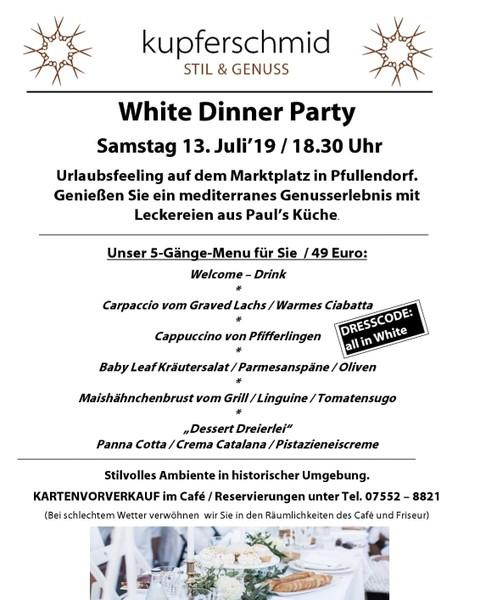 White Dinner am 13.07.2019 auf dem Marktplatz
