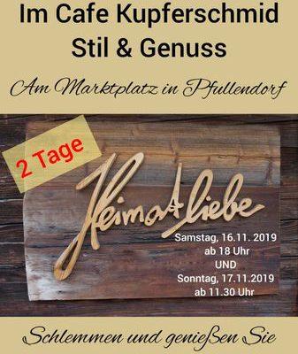 16.+17.11.2019 – 2 Tage HEIMATLIEBE…Birgit und Paule kochen für Sie